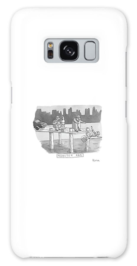 Captionless Galaxy Case featuring the drawing New Yorker August 11th, 2008 by Zachary Kanin