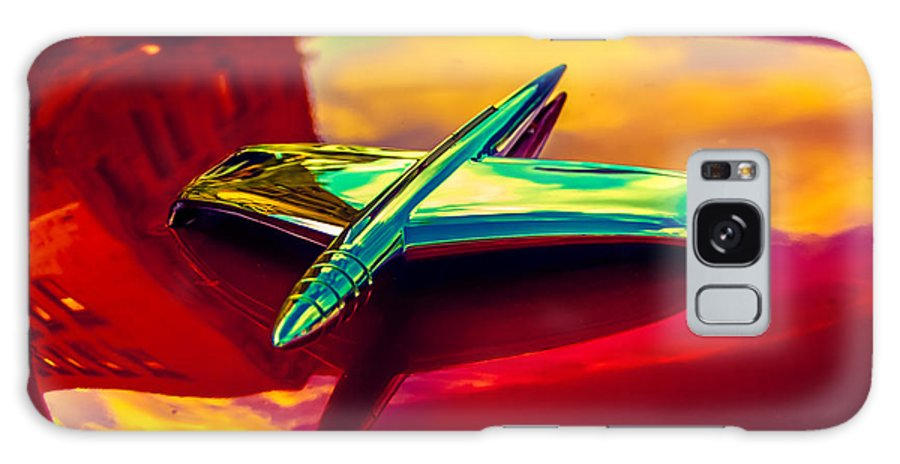 Classic Car Galaxy S8 Case featuring the photograph 53 Kaiser Hood Ornament by Daniel Enwright
