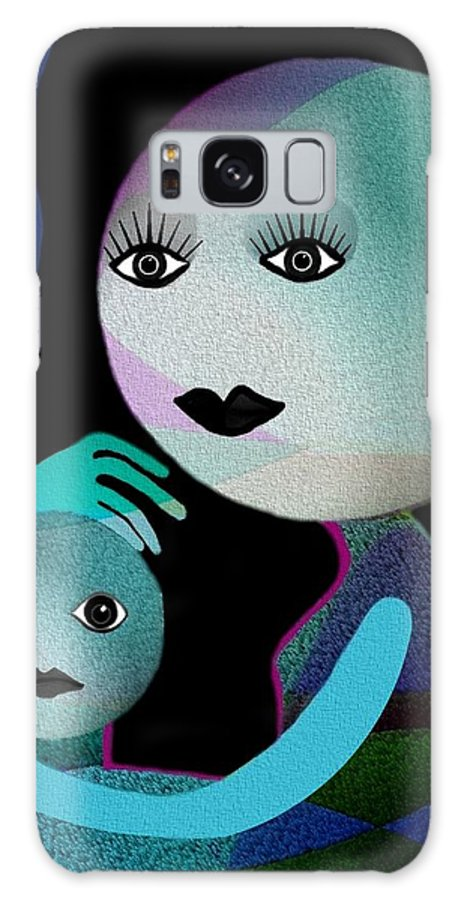 Gimp Galaxy S8 Case featuring the digital art 569 - Moonmotherchild by Irmgard Schoendorf Welch