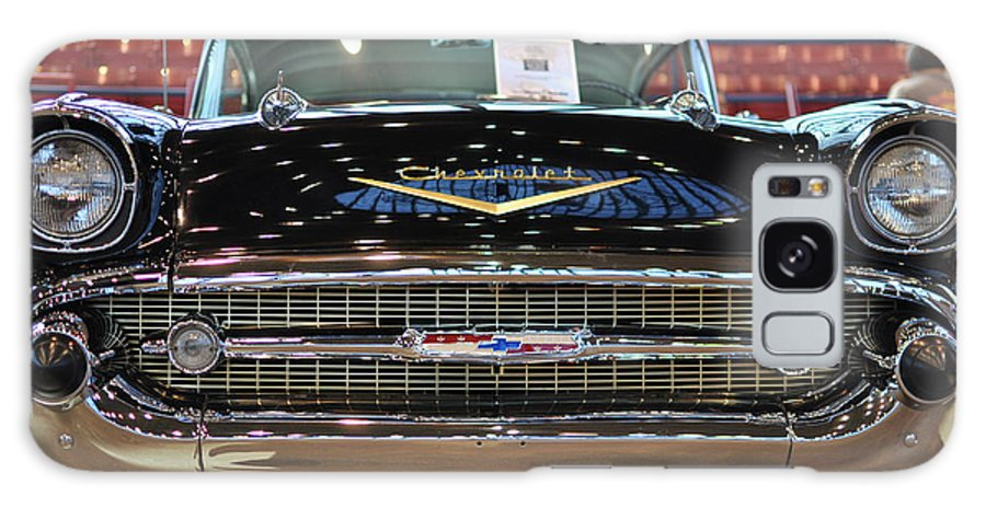Wright Galaxy S8 Case featuring the photograph '57 Chevy Bel Air Show Car by Paulette B Wright