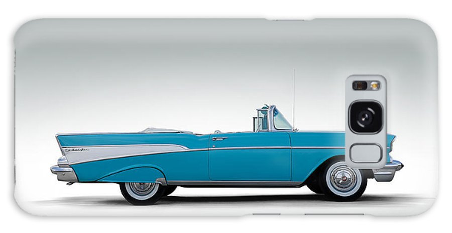 57 Chevy Galaxy S8 Case featuring the digital art 57 Chevy Convertible by Douglas Pittman