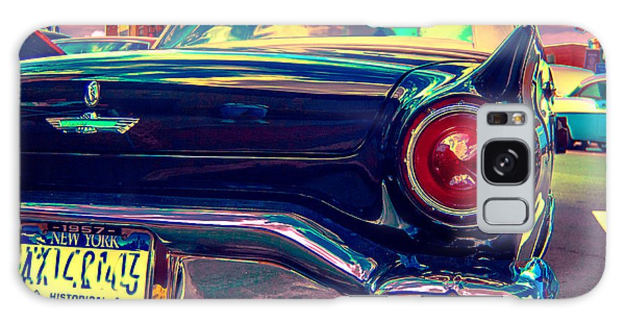 Classic Car Galaxy S8 Case featuring the photograph 57 Ford T Bird Tail by Daniel Enwright