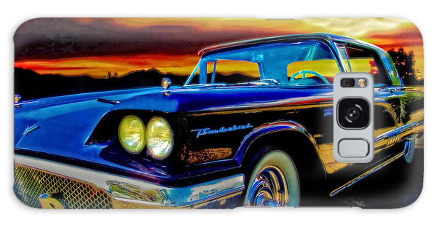 58 Galaxy S8 Case featuring the photograph 58 T Bird In Black by Chas Sinklier