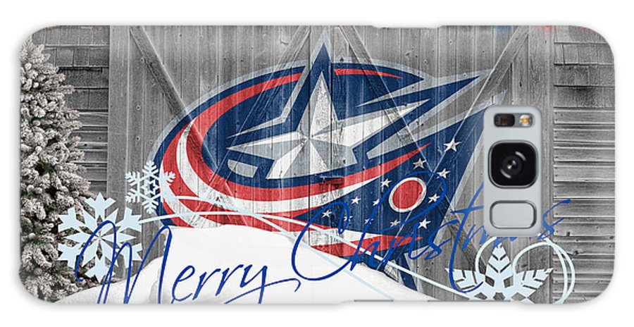 Blue Jackets Galaxy S8 Case featuring the photograph Columbus Blue Jackets by Joe Hamilton