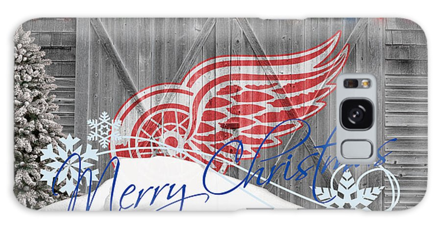 Red Wings Galaxy S8 Case featuring the photograph Detroit Red Wings by Joe Hamilton