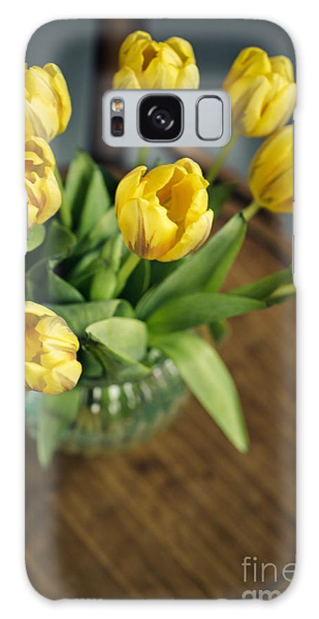 Tulip Galaxy S8 Case featuring the photograph Still Life With Yellow Tulips by Nailia Schwarz