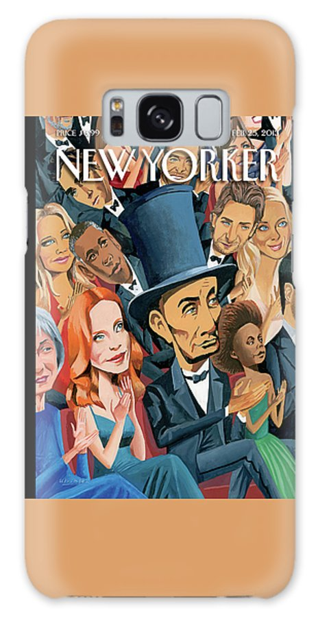 Oscars Galaxy S8 Case featuring the painting New Yorker February 25th, 2013 by Mark Ulriksen
