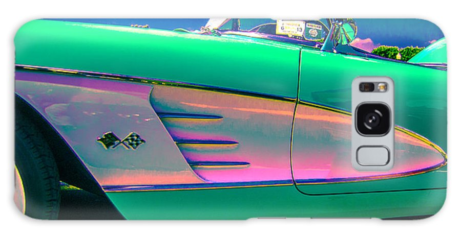 Classic Car Galaxy S8 Case featuring the photograph 60 Corvette Side by Daniel Enwright