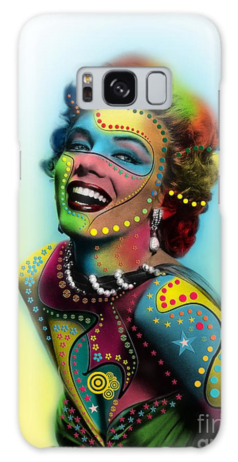 Pop Art Galaxy Case featuring the photograph Marilyn Monroe by Mark Ashkenazi