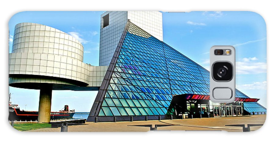 Rock Galaxy Case featuring the photograph Rock and Roll Hall of Fame by Frozen in Time Fine Art Photography