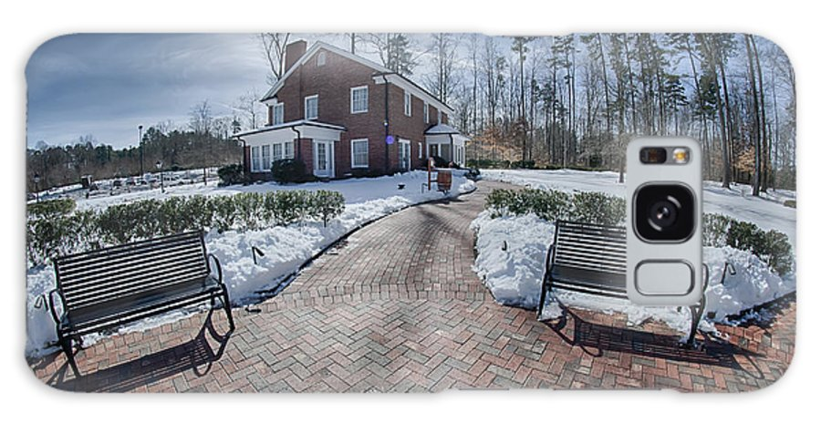 Snow Galaxy S8 Case featuring the photograph Snow Around Billy Graham Library After Winter Storm by Alex Grichenko