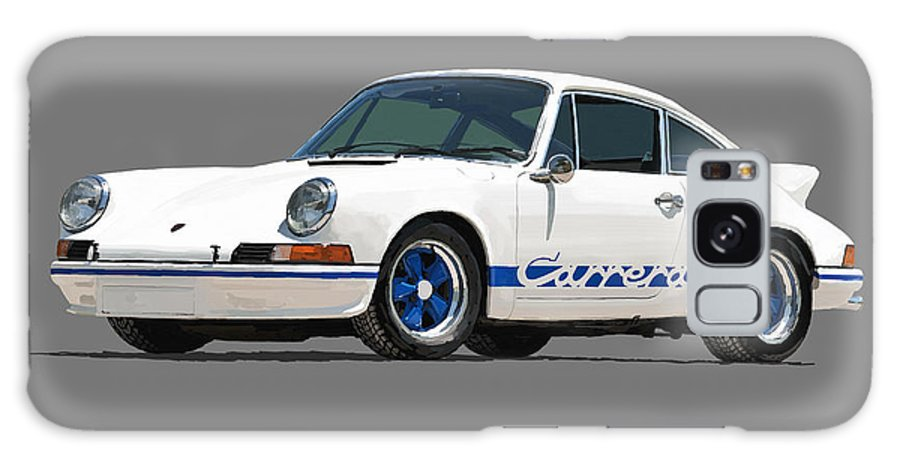 Porsche Galaxy S8 Case featuring the digital art '73 Porsche 911 Carrera 2.7 Rs by Charley Pallos