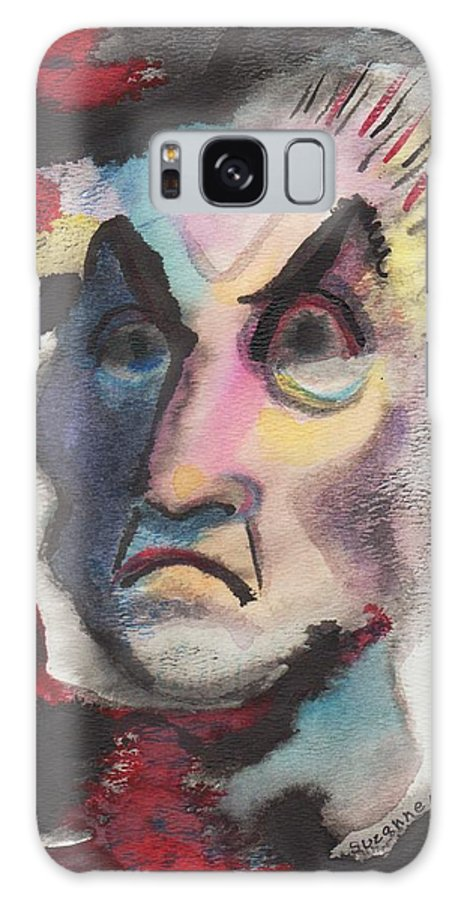 Abstract Galaxy S8 Case featuring the painting Untitled by Suzanne Marie Leclair