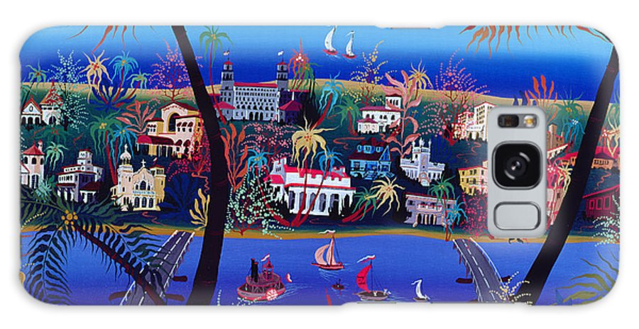 Paddleboat Galaxy S8 Case featuring the photograph 75th Anniversary Of Palm Beach, Florida Oil On Canvas by Herbert Hofer