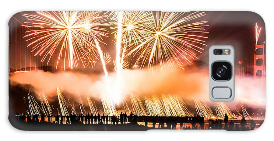 75th Anniversary Celebration Galaxy S8 Case featuring the photograph 75th Golden Gate Bridge Celebration by Diana Weir