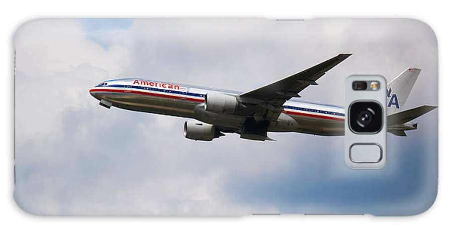 American Airline Galaxy S8 Case featuring the photograph 777 American Airlines by Rene Triay Photography