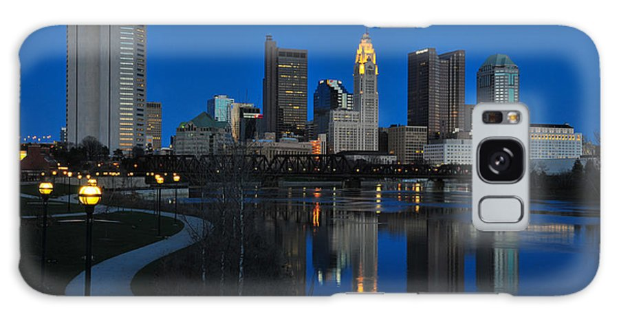 Columbus Galaxy S8 Case featuring the photograph Columbus Ohio Skyline At Night by Ohio Stock Photography
