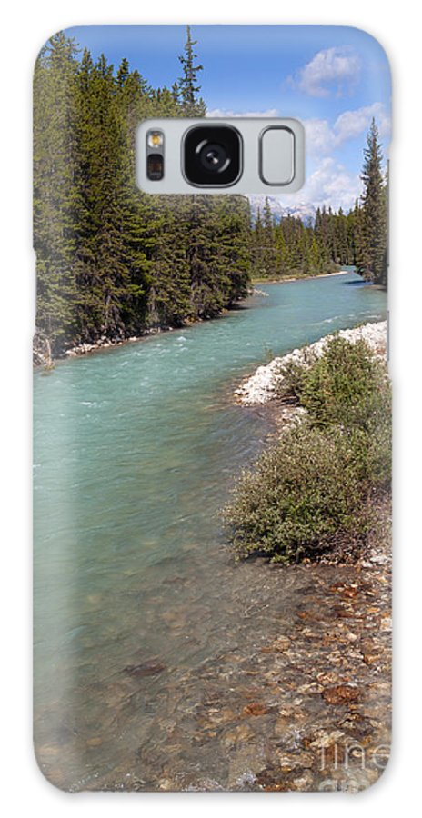 Bow River Galaxy S8 Case featuring the photograph 850p Bow River Canada by NightVisions