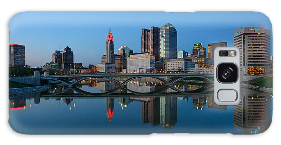 Columbus Galaxy S8 Case featuring the photograph Fx2l-508 Columbus Ohio Skyline Photo by Ohio Stock Photography