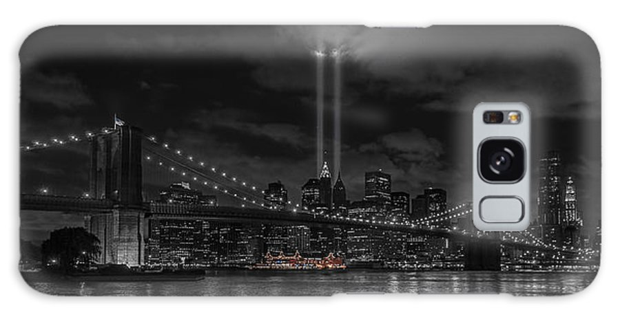 911 Galaxy S8 Case featuring the photograph 911 Tribute Lights by Keith Yates
