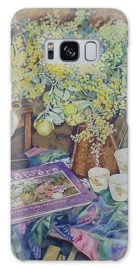 Wattle Galaxy S8 Case featuring the painting A Bouquet Of Flowers by Kerry Scally