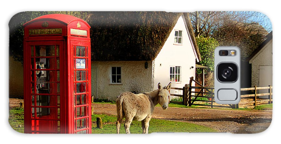 Phone Box Galaxy S8 Case featuring the photograph A British Street Scene by Peggy Berger