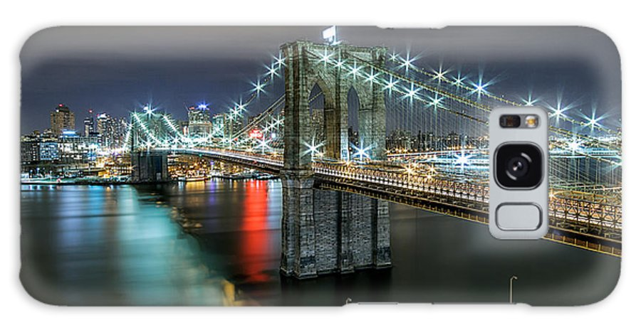 Landscape Prints Canvas Iphone Case Galaxy Case Cityscape Skyline Art Frame New York Art Buildings Sunset Sunrise Night Photography Photo Photography Love Beautiful Nyc Urban Anthonyfields Anthony Fields Galaxy S8 Case featuring the photograph A Brooklyn View by Anthony Fields