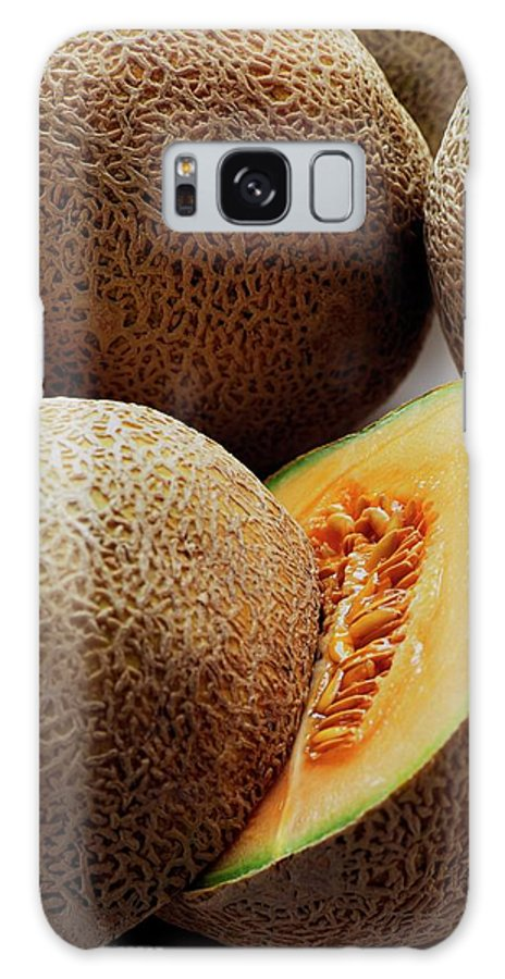 Fruits Galaxy S8 Case featuring the photograph A Cantaloupe Sliced In Half by Romulo Yanes