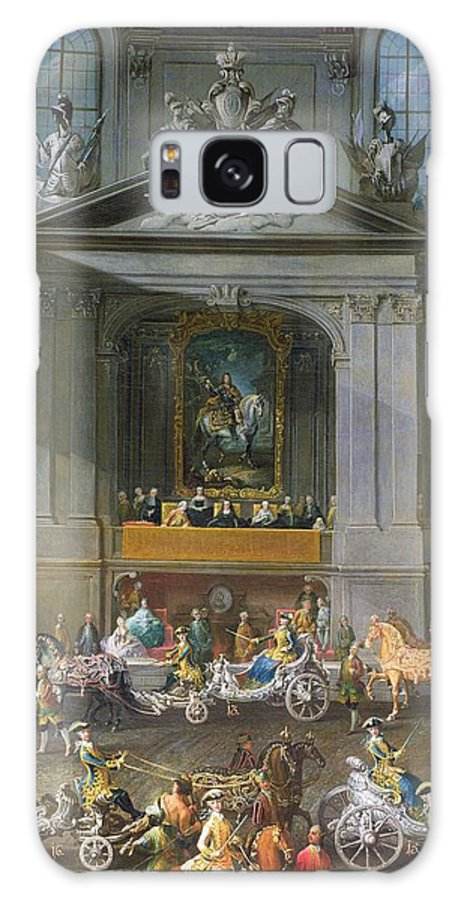 Austrian Galaxy S8 Case featuring the photograph A Cavalcade In The Winter Riding School Of The Vienna Hof To Celebrate The Defeat Of The French by Martin II Mytens or Meytens