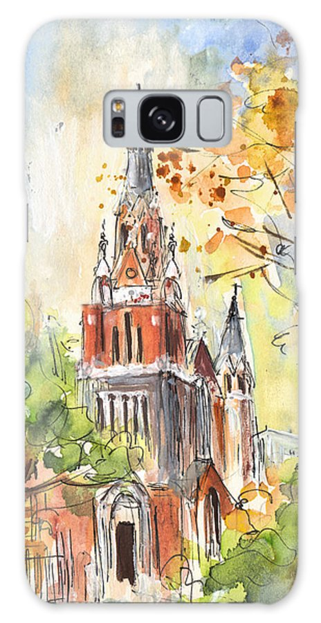Travel Galaxy S8 Case featuring the painting A Church In Our Street In Budapest by Miki De Goodaboom