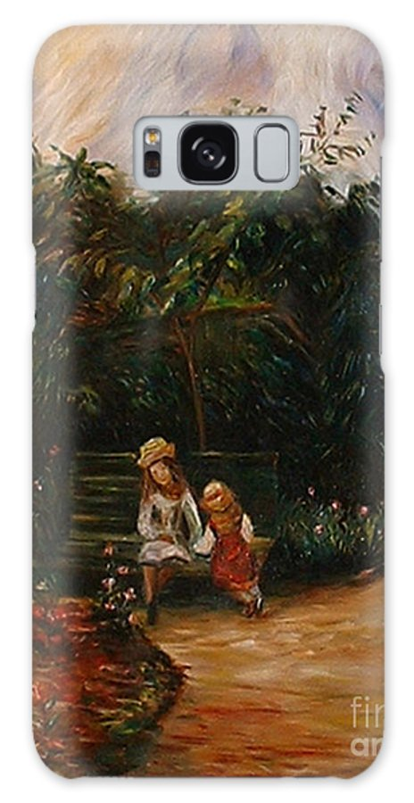 Classic Art Galaxy S8 Case featuring the painting A Corner Of The Garden At The Hermitage by Silvana Abel