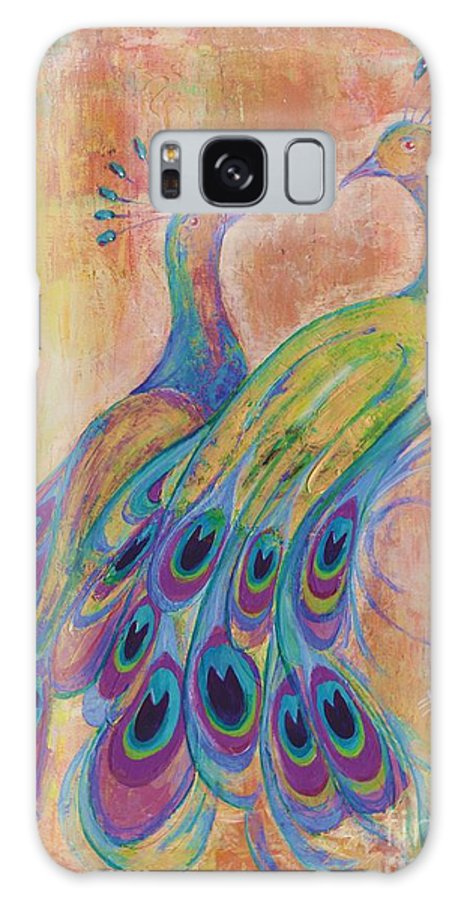 Peacock Galaxy S8 Case featuring the painting A Couple In Love by Bojan Eftimov