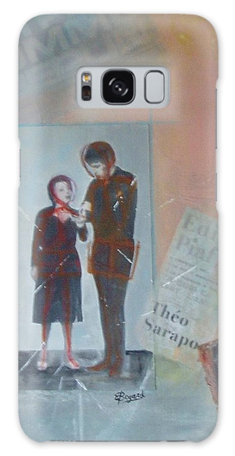 Edith Piaf Galaxy S8 Case featuring the mixed media A Cuoi Ca Sert L'mour Or What Else Is There But Love by Elizabeth Bogard