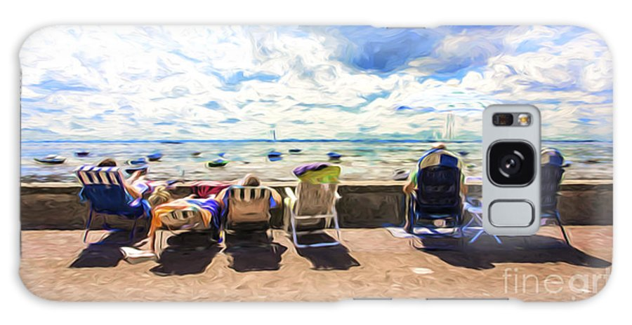 Seaside Galaxy Case featuring the photograph A day at the seafront by Sheila Smart Fine Art Photography