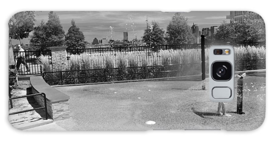 Black And White Photo Galaxy S8 Case featuring the photograph A Day In The Park by Christine Crowley