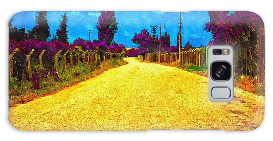 Painting Galaxy S8 Case featuring the digital art A Digitally Converted Painting Of An Empty Country Lane by Ken Biggs