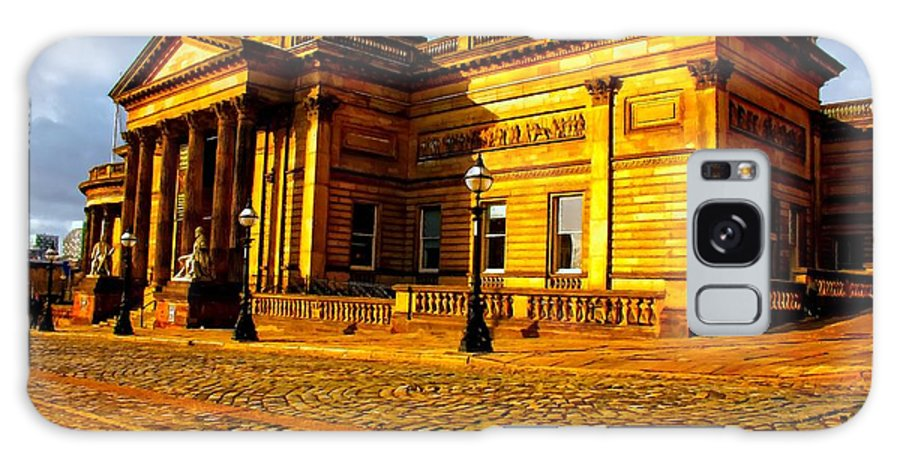 Painting Galaxy S8 Case featuring the digital art A Digitally Converted Painting Of The Walker Art Gallery In Liverpool Uk by Ken Biggs
