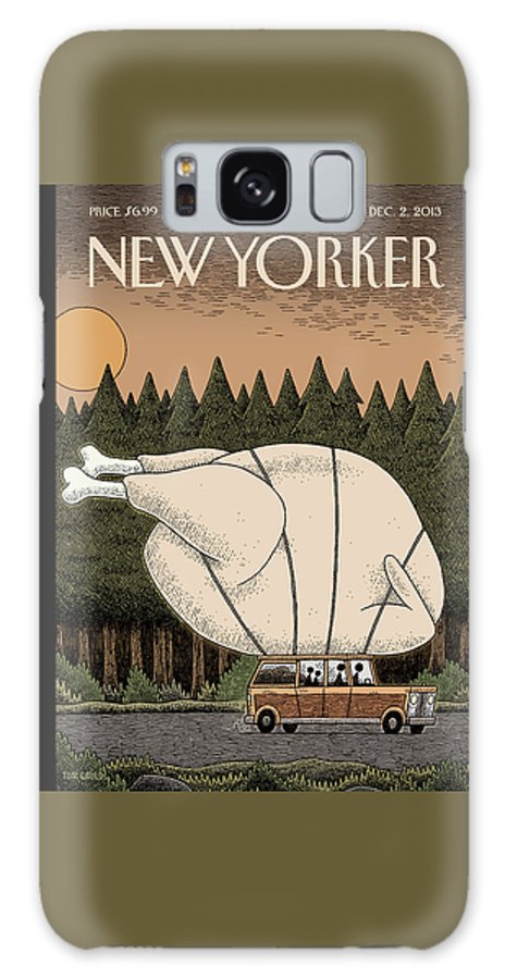 Thanksgiving Galaxy S8 Case featuring the painting A Family Rides Home With A Giant Turkey Tied by Tom Gauld