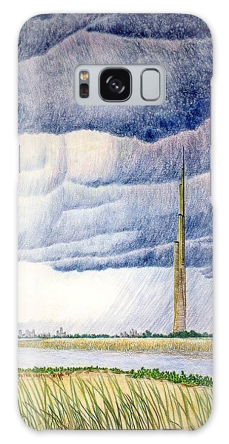 Landscape Galaxy Case featuring the painting A Finger to the Sky by A Robert Malcom