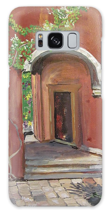 Arches Galaxy S8 Case featuring the painting A Garden Around The Corner by Dody Rogers