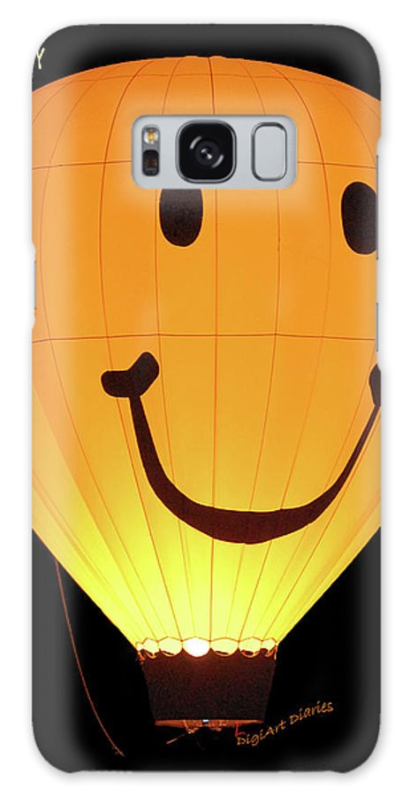 Balloon Galaxy S8 Case featuring the digital art A Glowing Smile by DigiArt Diaries by Vicky B Fuller