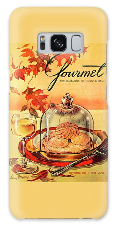 Illustration Galaxy Case featuring the photograph A Gourmet Cover Of Mushrooms On Toast by Henry Stahlhut