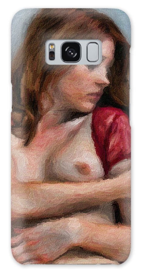 Nude Galaxy S8 Case featuring the painting A Hint Of Nude by Tyler Robbins
