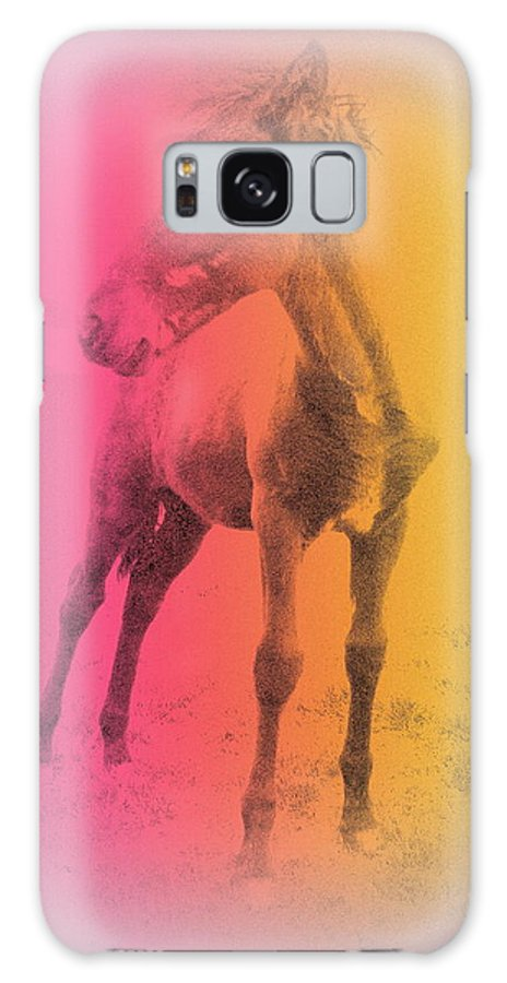 Horse Galaxy S8 Case featuring the photograph A Horse Baby Is A Fragile Creature, Ready To Run For Its Life by Hilde Widerberg