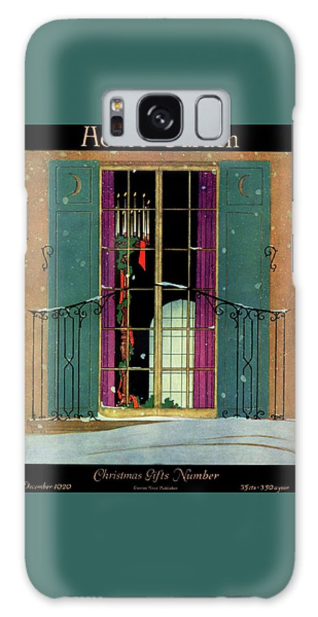 Illustration Galaxy Case featuring the photograph A House And Garden Cover Of A Christmas by Harry Richardson