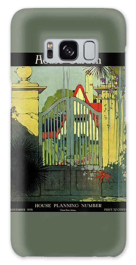 Illustration Galaxy S8 Case featuring the photograph A House And Garden Cover Of A Gate by H. George Brandt