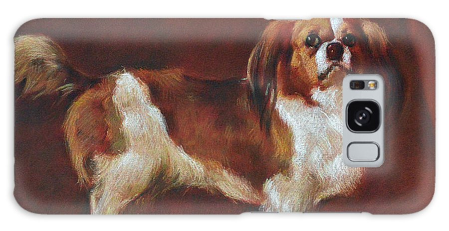 Pastel Galaxy Case featuring the painting A King Charles Spaniel by Iliyan Bozhanov