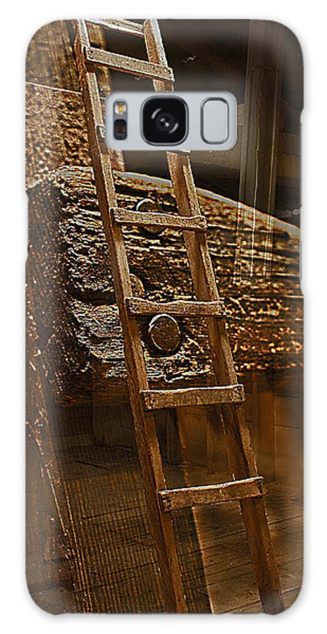 Ladder Galaxy S8 Case featuring the photograph A Ladder's Rung by David Kehrli