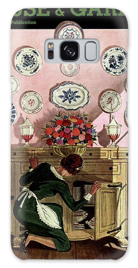House And Garden Galaxy S8 Case featuring the photograph A Maid Getting China From A French Provincial by Pierre Brissaud