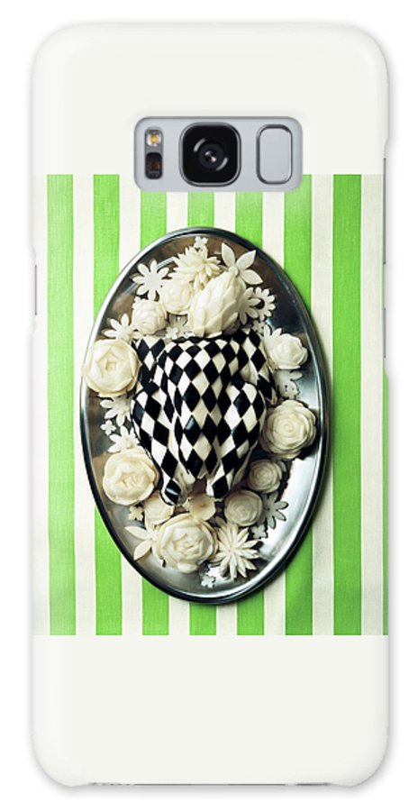 Studio Shot Galaxy S8 Case featuring the photograph A Meal With Painted Chicken And Eggplant by Ernst Beadle